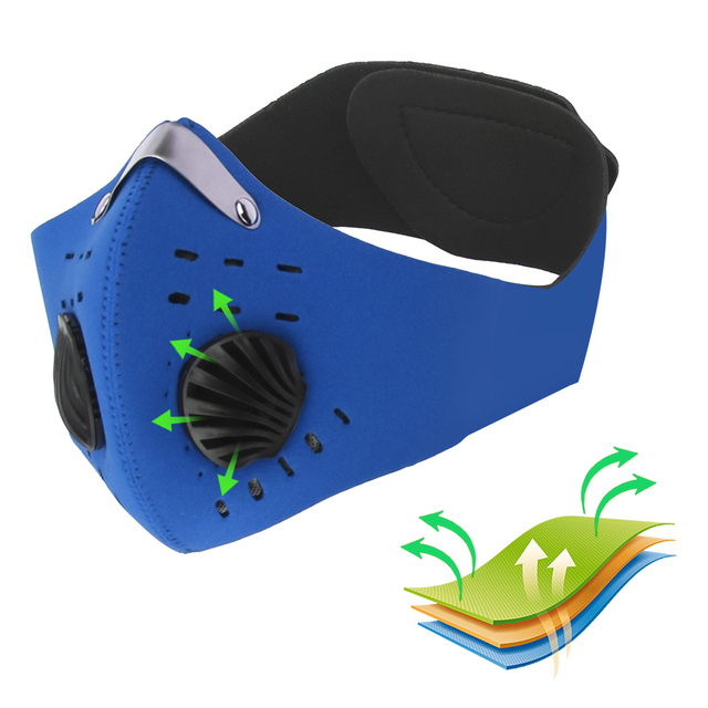 LEEPEE Cycling Mask With Filter Activated Carbon Anti-Pollution Masks Breathing Valve Protective Cycling Mask 1