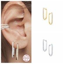 CANNER – boucles d'oreilles en argent Sterling 100% 925 pour femmes, grand cercle, Piercing, forme U