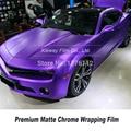 Новейшая обновленная фиолетовая оберточная бумага для автомобиля матовая Хромовая виниловая (не такое же обычное качество)
