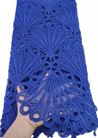 African Guipure Cord Lace Milk Silk Lace Fabric Nigerian Water Soluble Cord Milk Silk Lace Fabric For Sewing Dress