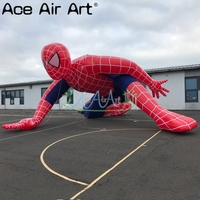 8m L giant cartoon model inflatable spiderman,perfect Half a squat on the ground balloon for sale