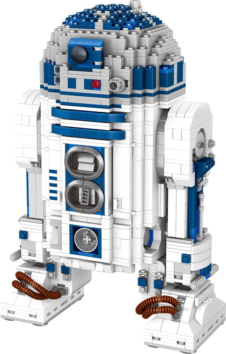 05043 Star Wars Space Out of Print The R2-D2 Robot Set Model Building Blocks 2127pcs Bricks Toys Compatible With Bela 10225