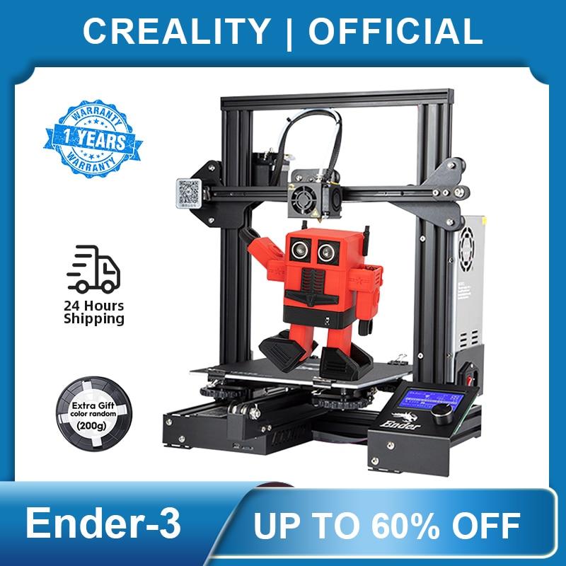 Ender-3 3D-принтеры комплект крупный шрифт Размеры Ender3/Ender-3X принтеры продолжение печати Мощность Creality 3D-принтеры модного дизайна