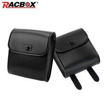 Racbox 1x Universal Motorcycle Handlebar Bar Saddle bag Side Bag PU Leather Tool For Harley Honda Kawasaki Yamaha