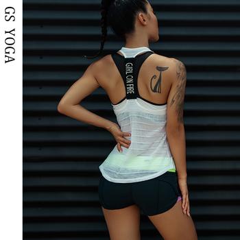 Damskie podkoszulki sportowe na koszulka na siłownię Top Fitness koszulka bez rękawów odzież sportowa koszulka do jogi top odzież koszulka na siłownię bieganie trening tanie i dobre opinie WOMEN CN (pochodzenie) Poliester Pasuje prawda na wymiar weź swój normalny rozmiar Suknem Koszule h125 Yoga