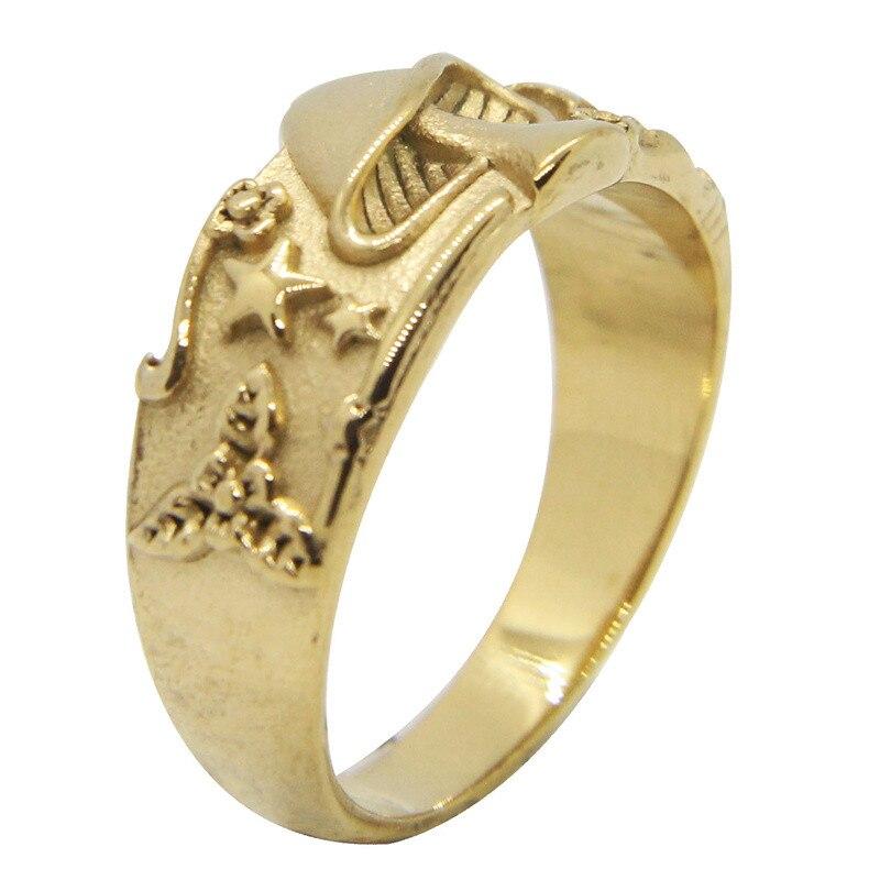 Новинка, Крутое Золотое кольцо в форме гриба из нержавеющей стали 316L, модное ювелирное изделие, Размер 7-13, унисекс, вечерние круглые кольца с...