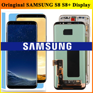 Image 1 - ORIGINAL SUPER AMOLED S8 LCD with Frame for SAMSUNG Galaxy S8 G950 G950F Display S8 Plus G955 G955F Touch Screen Digitizer