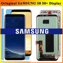 Pantalla LCD ORIGINAL SUPER AMOLED para SAMSUNG Galaxy S8, G950, G950F, S8 Plus, G955, G955F, digitalizador de pantalla táctil