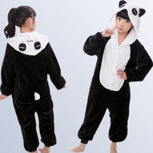 Image 2 - Jongens Meisjes Pyjama Animal Pyjamas Baby Herfst Winter Flanel Leuke Hooded Kids Nachtkleding Pijamas Cosplay Voor 4 6 8 10 12 Jaar
