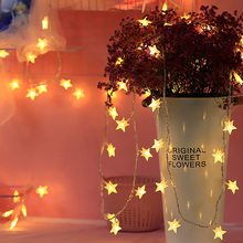 1M-6M/10-40LEDs Star String Light Fairy Lights LED For Holiday Wedding Party Christmas Decoration Battery/USB D40