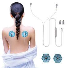 Портативный мини импульсный массажер для тела физиотерапия ЭМС