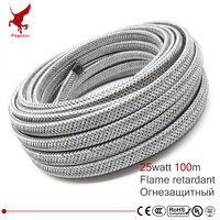 100m shield 220V flame retardant heating cable 10mm self regulat temperature Water pipe protection roof deicing heating cable