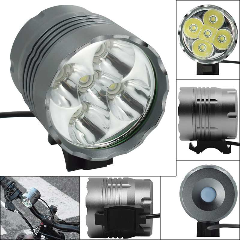 5*T6 LED <font><b>Bicycle</b></font> Front <font><b>Lights</b></font> Headlight <font><b>7000</b></font> <font><b>Lumen</b></font> Bike <font><b>Light</b></font> Lamp Waterproof Outdoor Cycling Headlamp image