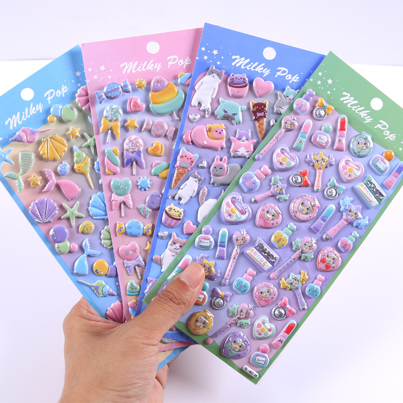 Dessert Cake Series Cartoon Food 3D Decorative Stickers Adhesive Stickers DIY Decoration Craft Scrapbooking Stickers