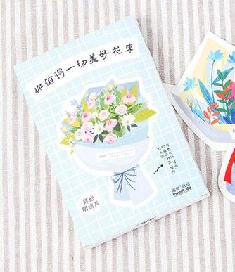 P227- Good Flower Paper Postcard(1pack=30pieces)