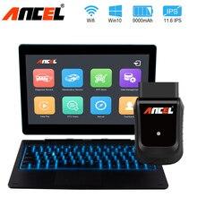 Ancel X5 Pro OBD2 считыватель кодов полная система автомобильный диагностический инструмент Поддержка 22 языков 72 автопроизводители бесплатное обновление онлайн OBD сканер