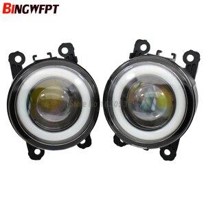 Image 2 - 2 sztuk/para wysokiej jakości LED światła przeciwmgielne z anioł oczu dla Ford połączenia Tourneo MPV 2002 2015 dla Ford Fiesta V Hatchback JH JD
