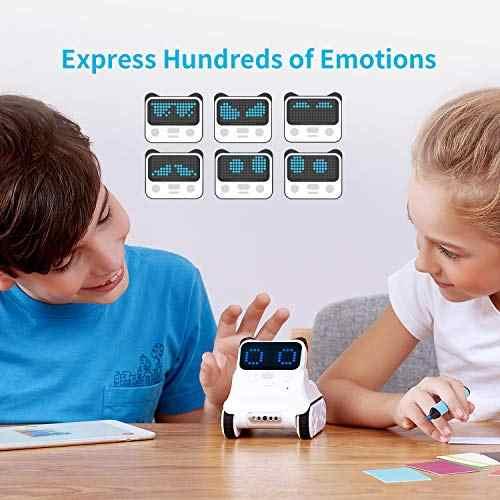 Makeblock robô programável codey rocky, brinquedos divertidos para aprender ai, python controle remoto para crianças idade 6 +