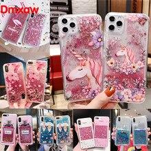 Para Vivo Y97 Y91C Y93 Y95 Y91 Y85 V9 Y81 V7 V5 Plus Y71 Y69 V5 Lite Tampa Floral Flamingo Unicórnio V5s Glitter Caso De Telefone de Água
