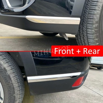 цена на Front & Rear Bumper Corner Cover Protector Guard For 2019 2020 Subaru Forester (SK) Stainless Steel