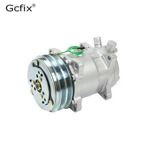 Image 4 - 12V 24V A/C Air Conditioner Evaporator Radiator Compressor kit for Muscle Car Truck Van Tractor Digger Motorhome AC Parts