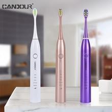 La franqueza CD5168 cepillo de dientes eléctrico cepillos ultrasónico IPX8 cargador USB resistente al agua 15 modos recarga esterilización Sonic cepillo de dientes