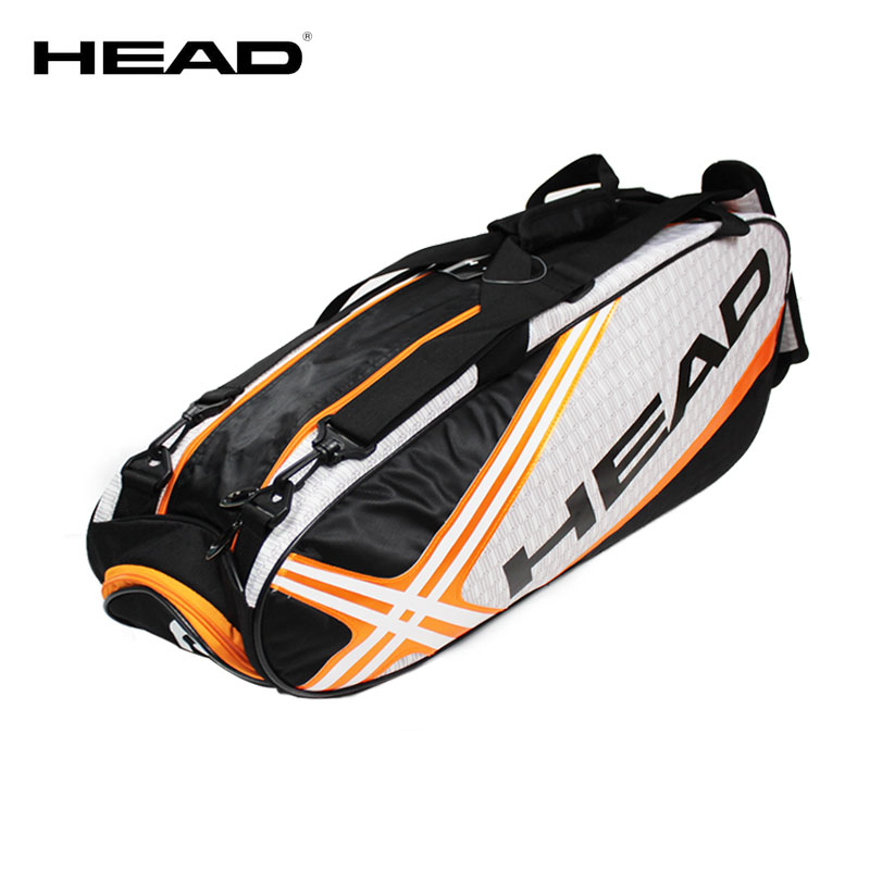 HEAD Tennis Bag Tennis Racket Bag Badminton Bag Capacity 6-9 Racquet Sport Bags Men Tenis Racket Pack Badminton Backpack