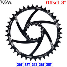 Vxm mtb gxp bicicleta manivela engrenagem fixa 34t 36t 38t 40t chainring chainwhee para sram gx x01 x1 x9 gxp pedivela offset 3mm