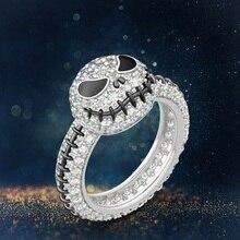 1 шт. Винтажное кольцо с изображением тыквы, черепа, для женщин и мужчин, серебряное кольцо для Хэллоуина, модные украшения, подарок на вечеринку в честь Хэллоуина, Прямая поставка