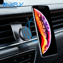 RAXFLY Magnetic Car Phone Holder For in Magnet Mobile 360 Degree Air Vent Mount Stand L Shape Support Telephone