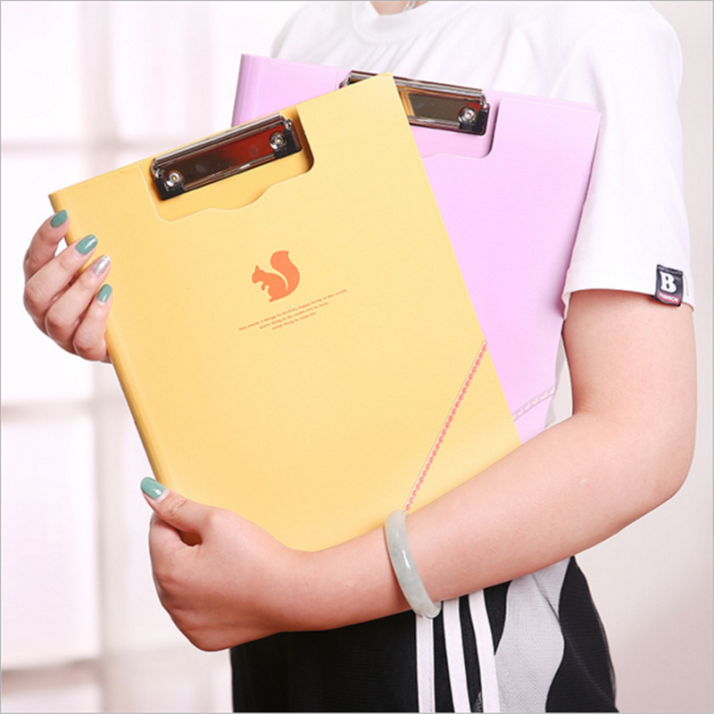 Fashion A4 Clipboards Stationery File Clip Document Folder Board Desk Plate Drawing Writing Pad School Office Accessory