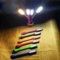 Ультра яркий 1,2 Вт светодиодный s USB лампа для Тетрадь ноутбук ПК Портативный Гибкая Металлическая шейка светодиодный USB светильник складной...