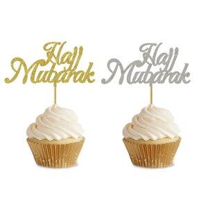 Image 4 - 20 Chiếc 3X5 Inch EID Cupcake Topper Nikkah Mubarak EID Mubarak Hajj Mubarak Umrah Mubarak Cupcake Quán Quân Cho EID Al fitr Trang Trí