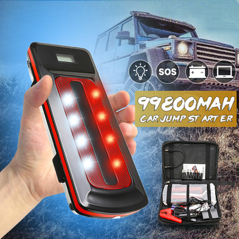 1Set 99800mAh Car Jump Starter Booster 800A LED Power Bank 12V USB Emergency Battery Charger Portable Emergency Jump Starter image