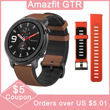 Global Version Amazfit GTR 47mm Huami Smart Watch 5ATM Waterproof 24 Days Battery GPS Music Control Support For Android IOS