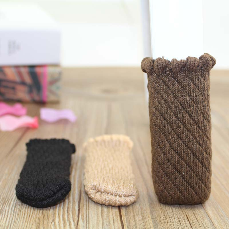 Chair Legs Bottom Cover Socks Floor Protector Pad Wear-resisting Furniture Legs Protector Home Decor Table Feet Cover 4 Pcs