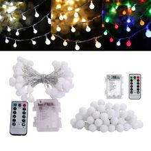 40/50 LEDs Round Ball String Light 8 Modes Waterproof Holiday Party Home Store Q84D for LED