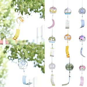 Wind Bells Handmade Glass Birthday Gift Christmas Gift Home Decors Wind Chimes Japanese Style(China)