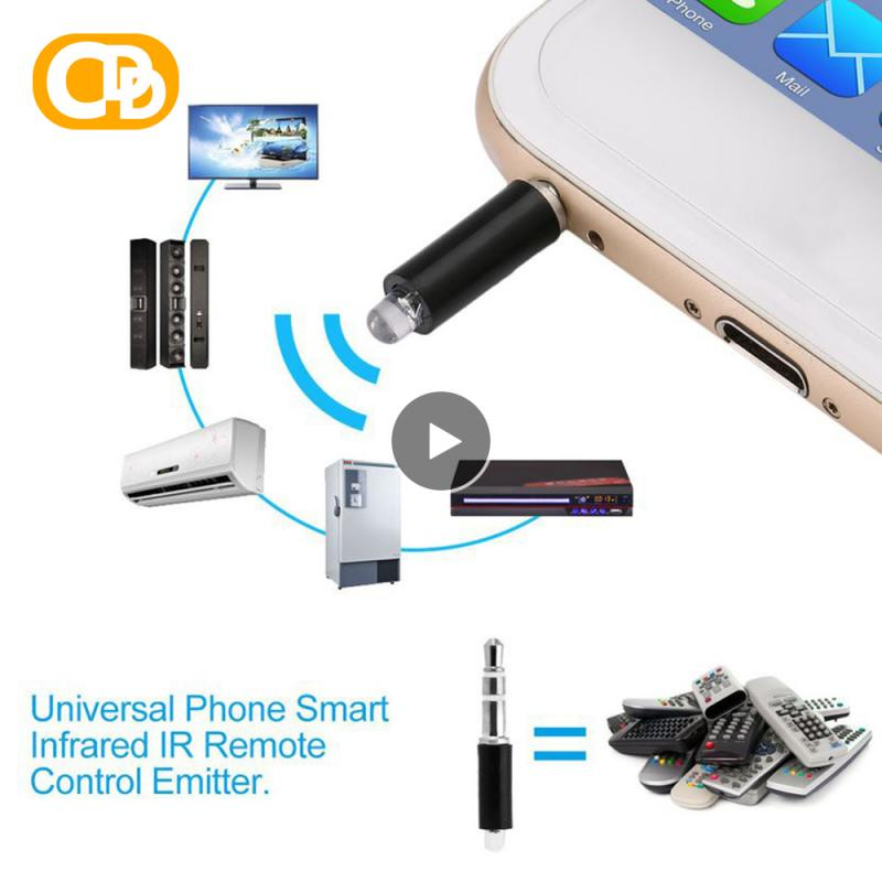 Mobile Phone Universal Remote Control Infrared Transmitter TV Air Conditioner 3.5mm Wireless Remote Sensing Control Random Color