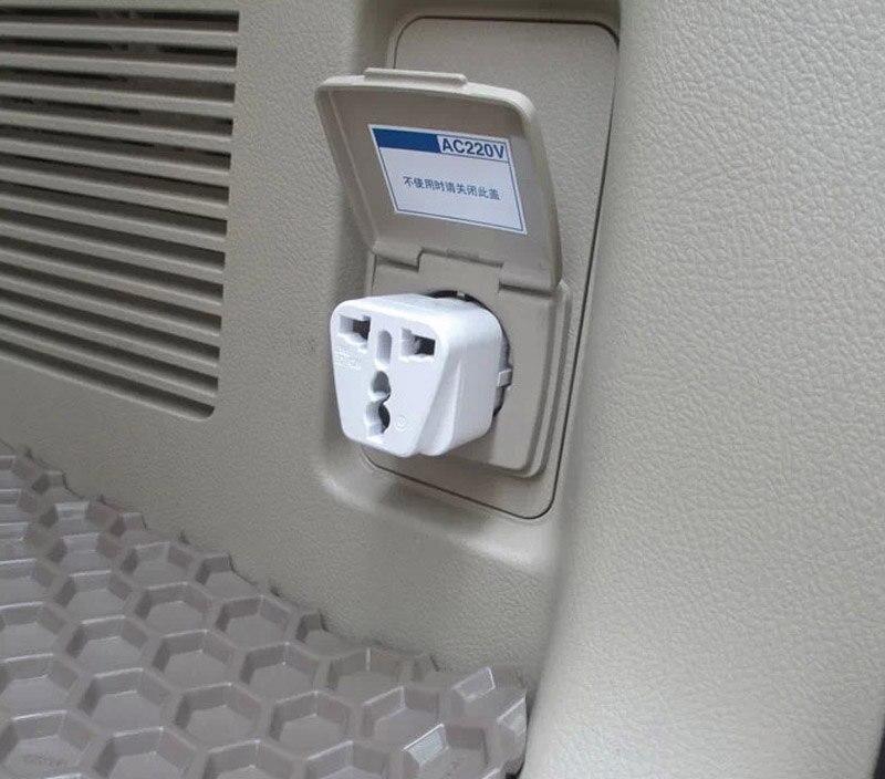 1pc For TOYOTA PRADO LAND CRUISER Trunk Conversion 220V Power Plug Converter Decorate