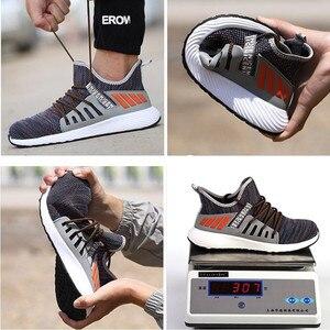 Image 4 - ความปลอดภัยรองเท้าทำงานก่อสร้างผู้ชายกลางแจ้งSteel Toe Capรองเท้าผู้ชายหลักฐานเจาะคุณภาพสูงน้ำหนักเบาความปลอดภัยรองเท้า