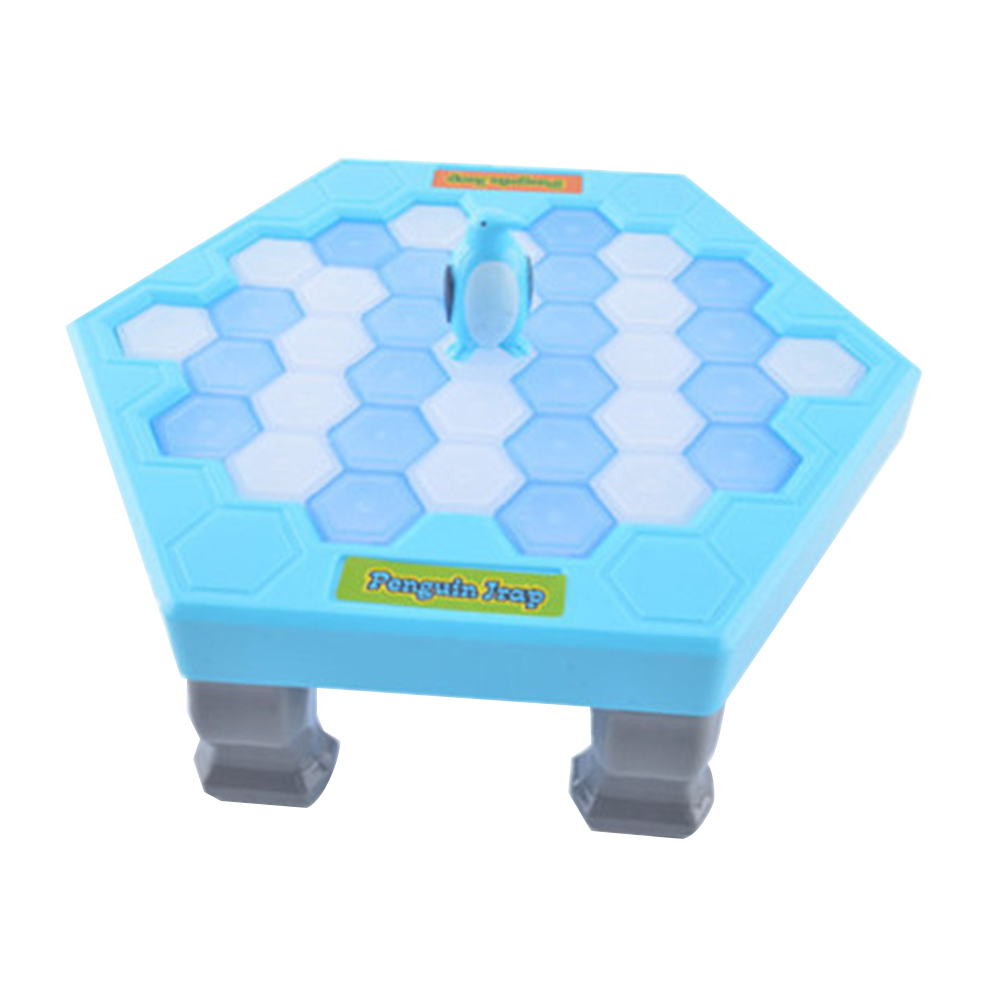 Mini Funny Parent Children Kids Table Game Kids Adult Toy Stress Reliever Decor Kids Save Penguin Ice Block Breaker Trap Toys