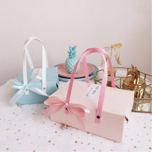 Festival Pink/blue moon cake gift box packaging Biscuit Chocolate hand-held candy boxes New year 2021 cajas de carton новый год