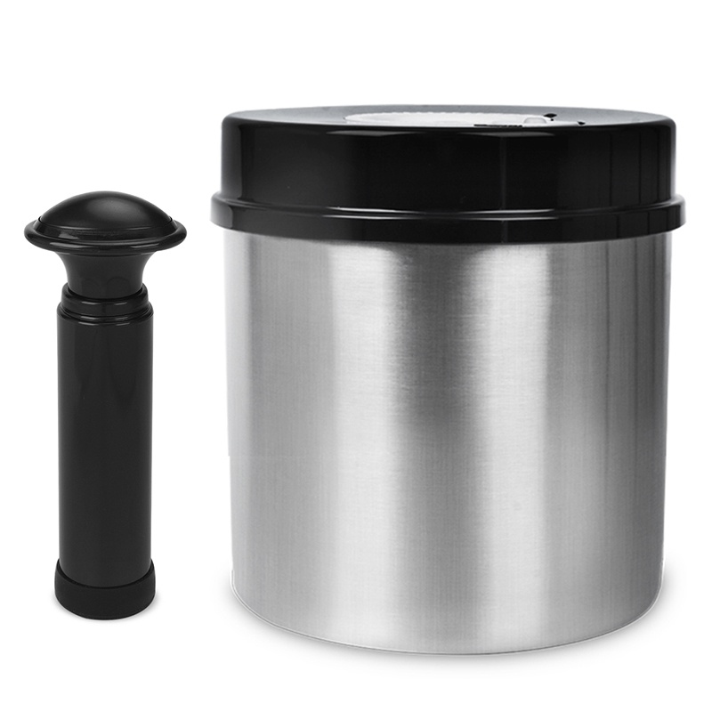 Laimeng Food Storage Containers 304 Stainless Steel Vacuum Container Vacuum Canister For Vacuum Sealer Food Container S163BK