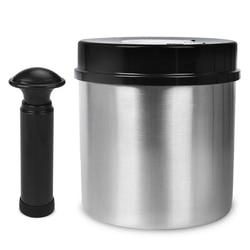 Laimeng Wadah Penyimpanan Makanan 304 Stainless Steel Wadah Vakum Vakum Tabung untuk Vacuum Sealer Makanan Wadah S163BK