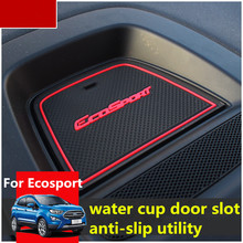 Rubber Mat For Ford Ecosport 2018 Door Slot Pad Cup Cushion