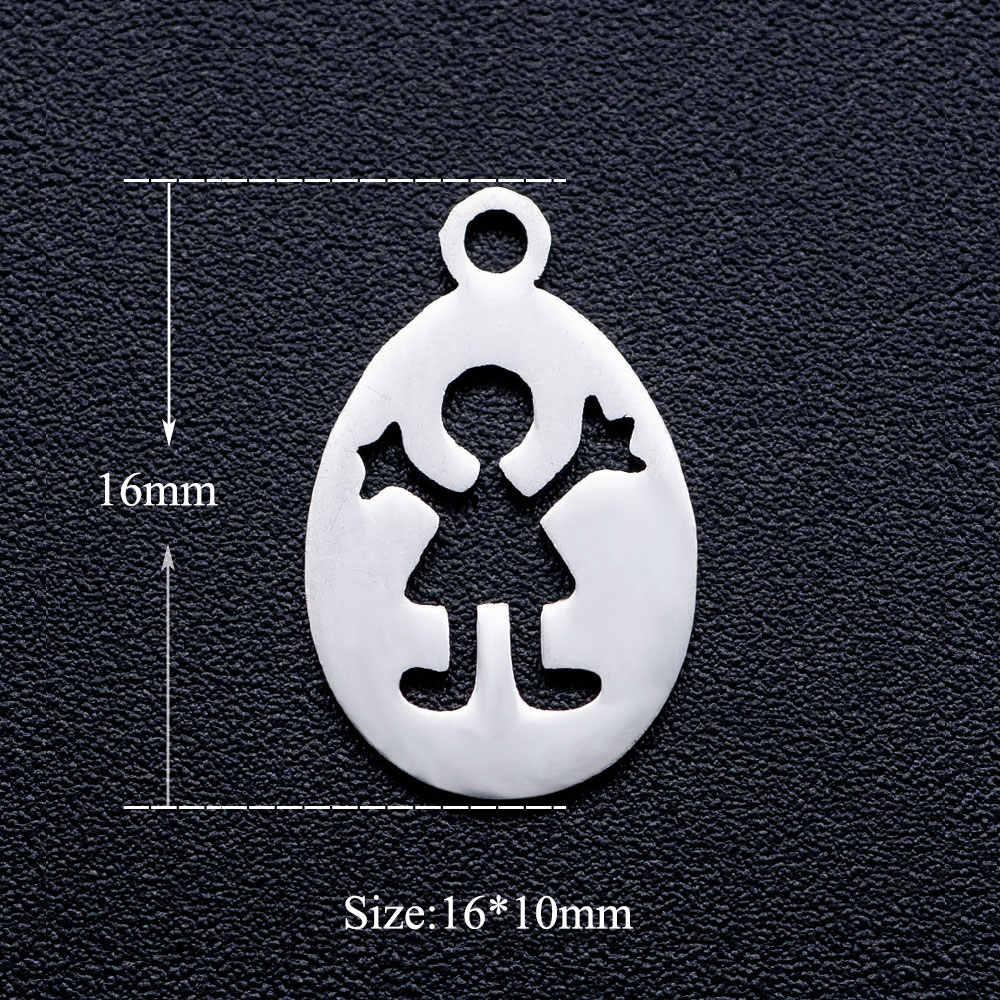 10 Buah/Banyak Ini Adalah Anak DIY Perhiasan Pesona Grosir 100% Stainless Steel Menemukan Pesona Perlengkapan Dropshipping