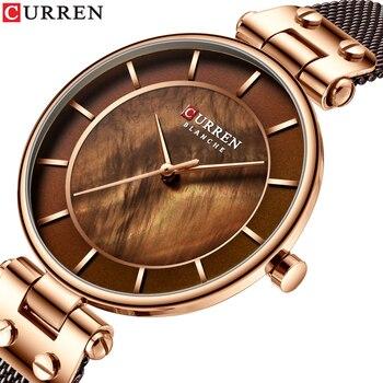 CURREN 2019 Women's Watches Fashion Ladies Casual Stainless Steel Band Quartz Wristwatch Women Clock  bayan kol saati - discount item  50% OFF Women's Watches