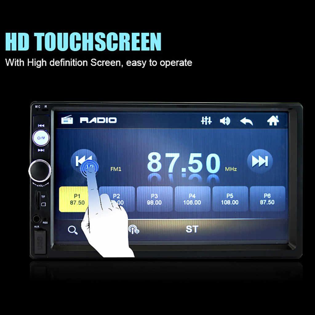 Usb شحن الموسيقى فيديو mp3 MP4 لاعب 7010B 7 بوصة مزدوجة 2 الدين 7 بوصة HD لمس في داش لتحديد المواقع راديو ستيريو بالسيارة MP5 لاعب FM