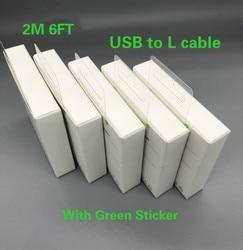 100 pçs/lote alta qualidade 2m/6ft folha de alumínio usb cabo dados sincronização carregador para 6s 7 8 mais xr xs max com novo pacote